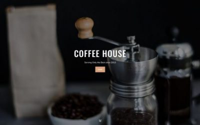 Website template: Coffee House