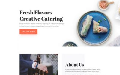 Website template: Food Catering