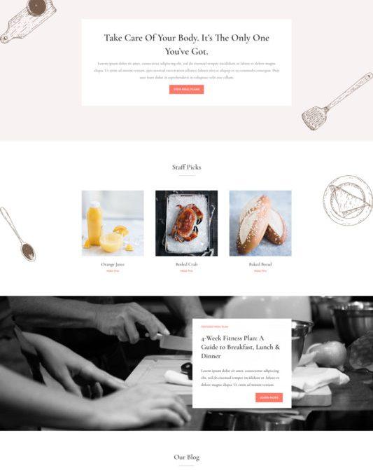 Website template: Food Recipes