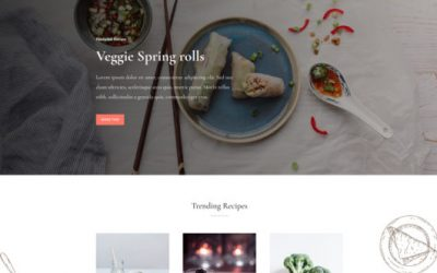 Website template: Food Recipes